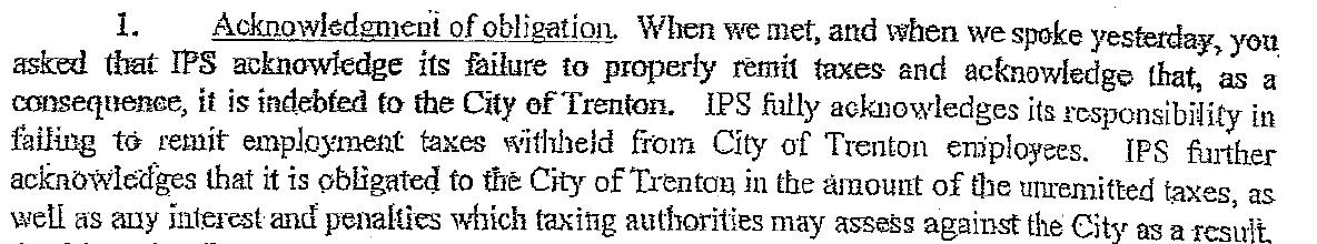 trenton vs ips acknowledgement
