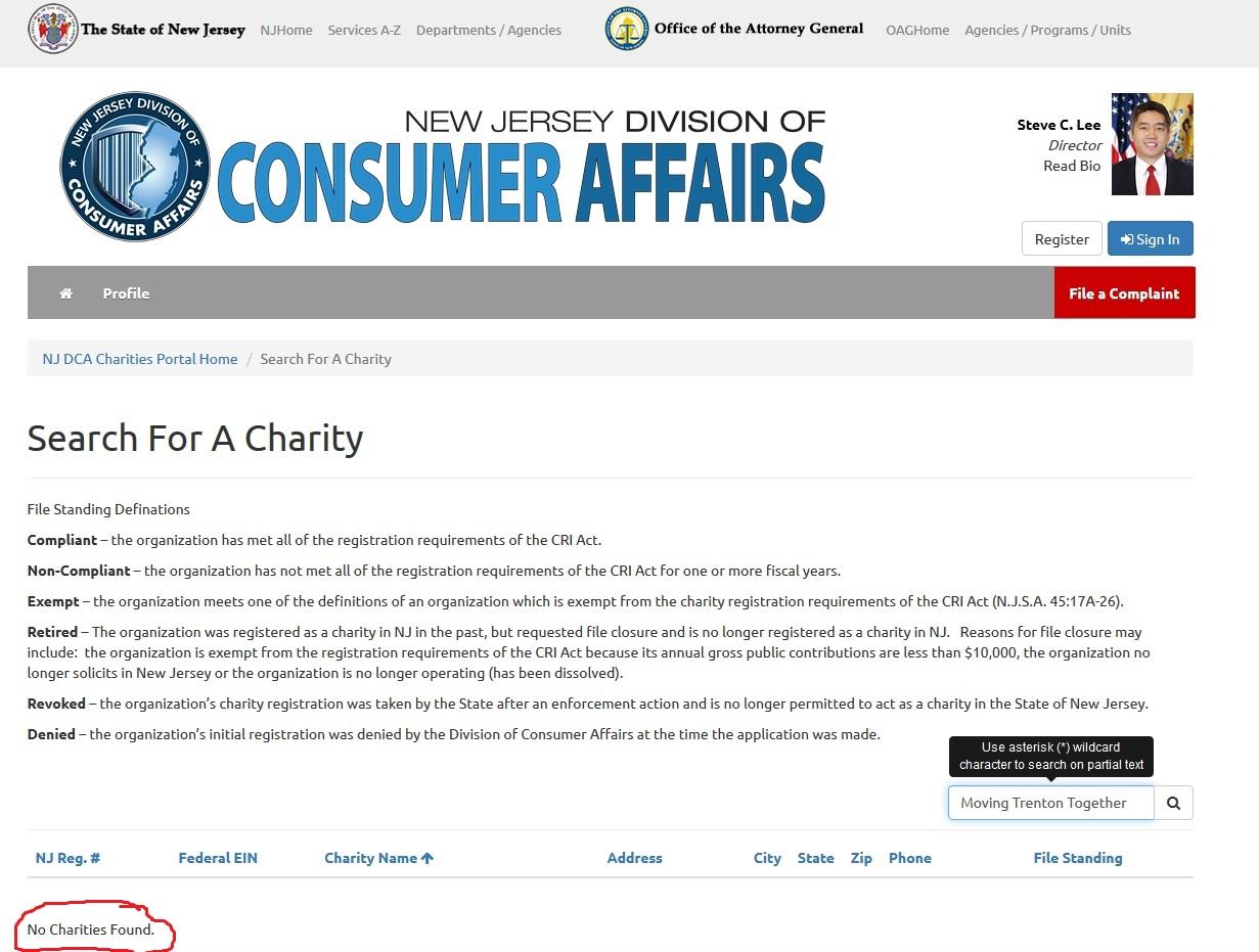 nj charities